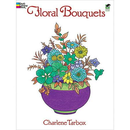Dover Publications, Floral Bouquets Coloring Book Dover Publications Coloring Books