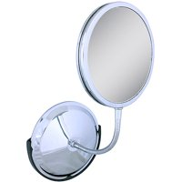 FG60 Zadro Triple Vision Gooseneck Wall Mount Vanity Mirror with 1x, 5x & 10x Magnification