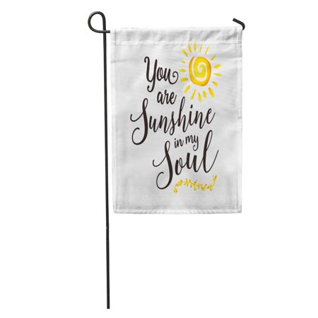 SIDONKU Adoration You are Sunshine in My Soul Inspiring Encouragement and Laurel Accent Beautiful Garden Flag Decorative Flag House Banner 12x18 inch