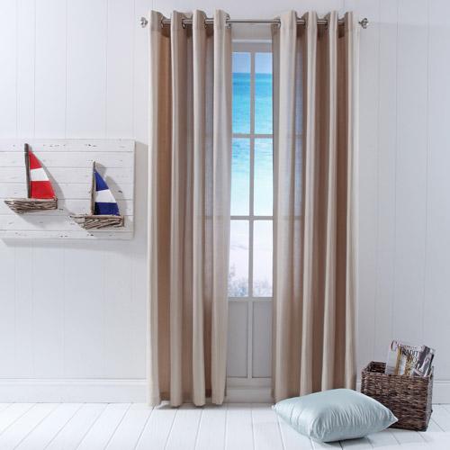 Belle Maison Murray Stripe Grommet Window Panel