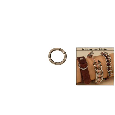 """Tandy Leather Solid Rings 3/8"""" (10 mm) Nickel Plate 10/pk 1180-02"""