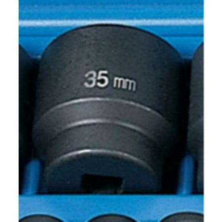2in Drive Metric Impact Socket - Grey Pneumatic 2035M 1/2