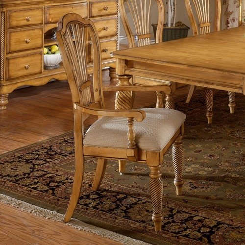 Hillsdale Furniture Wilshire Pine Arm Chair (Set of 2)