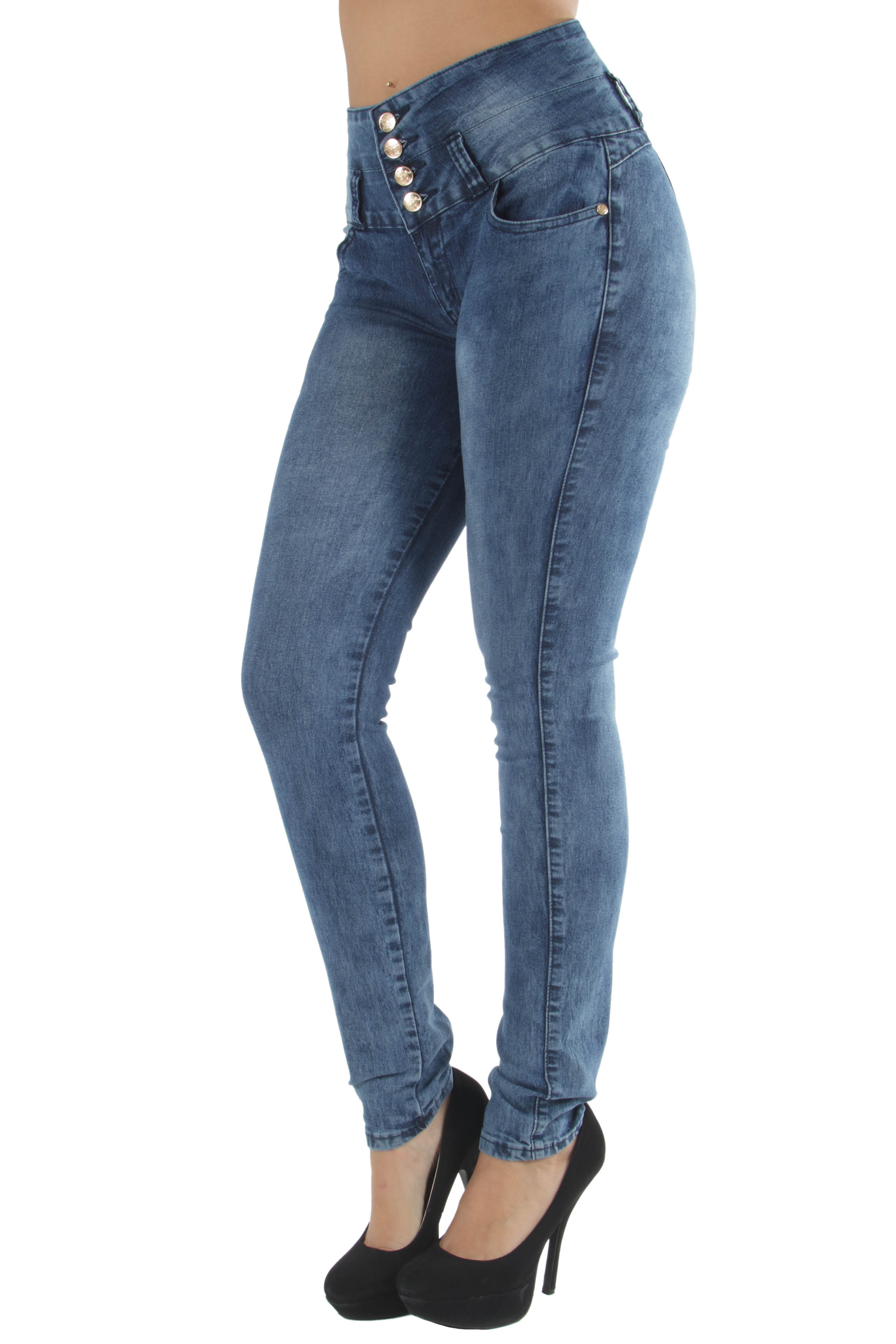 N1386P - Plus Size, Butt Lifting, Levanta Cola, High Waist Sexy Skinny Jeans