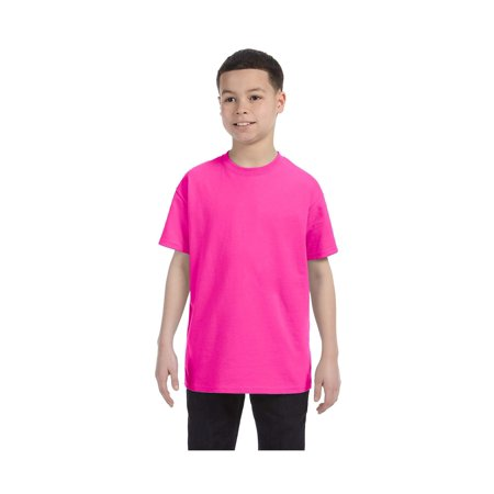 Gildan Big Boys Heavy Taped Neck Comfort Jersey T-Shirt, Style G5000B](Military Boys)