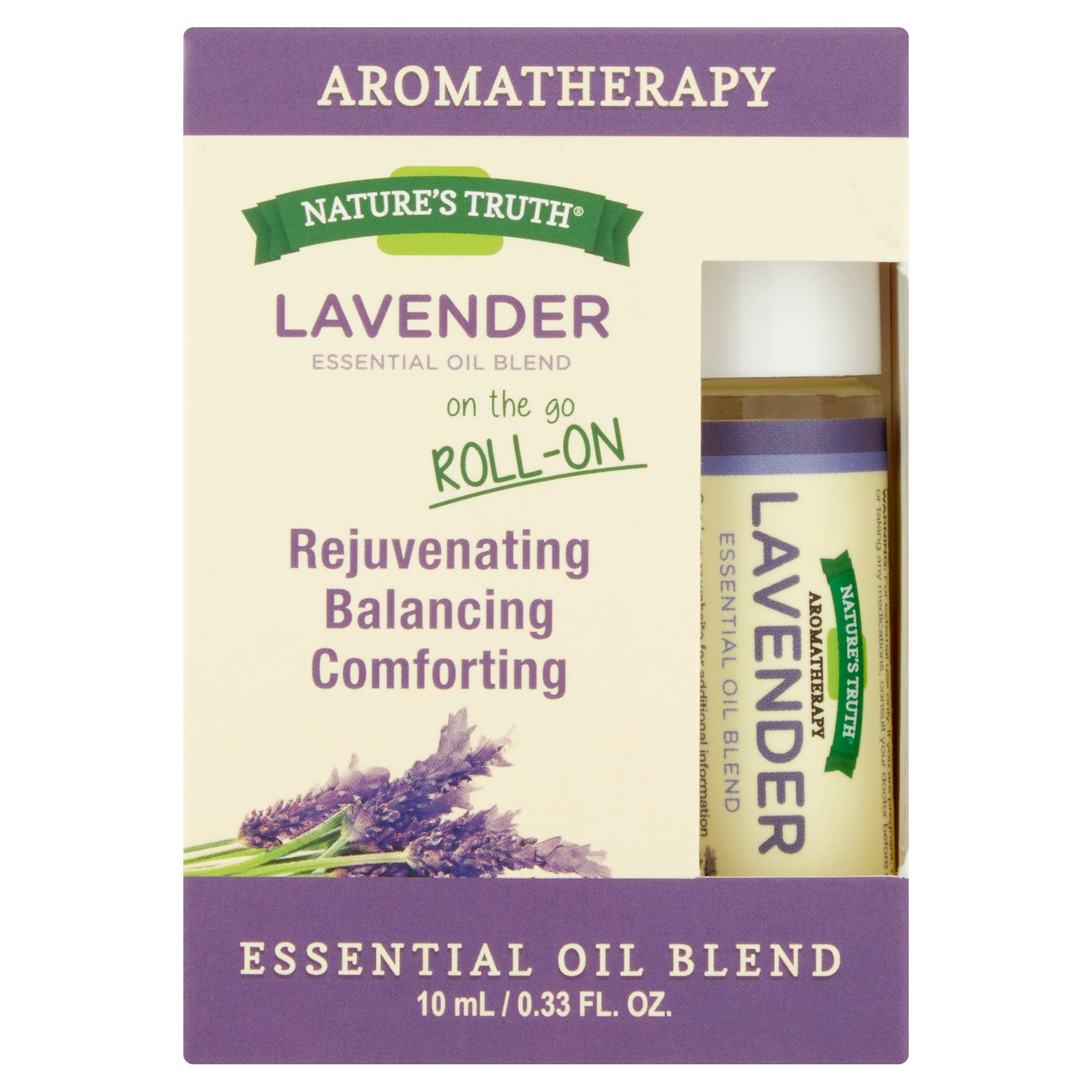 Nature's Truth Aromatherapy Lavender Essential Oil Roll-On, 0.33 Fl Oz