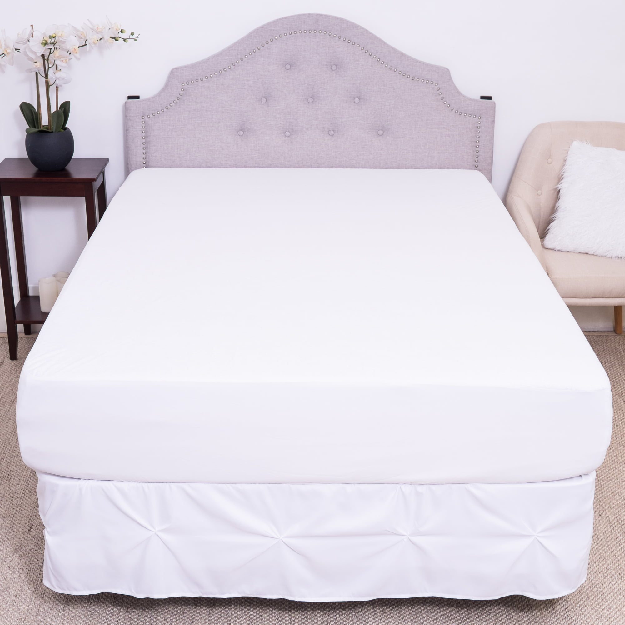 LUXURY BRAND NEW WATERPROOF TERRY TOWELING MATTRESS PROTECTOR BED COVER
