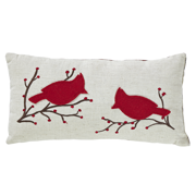 Applique Embroidery Accent Pillow