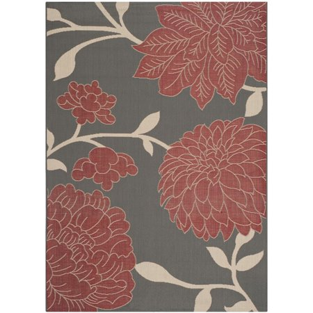 Safavieh Courtyard 8' X 11' Power Loomed Rug in Anthracite and Beige - image 1 de 1
