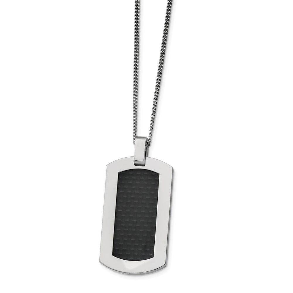 Titanium Black Carbon Fiber Necklace (24in long)