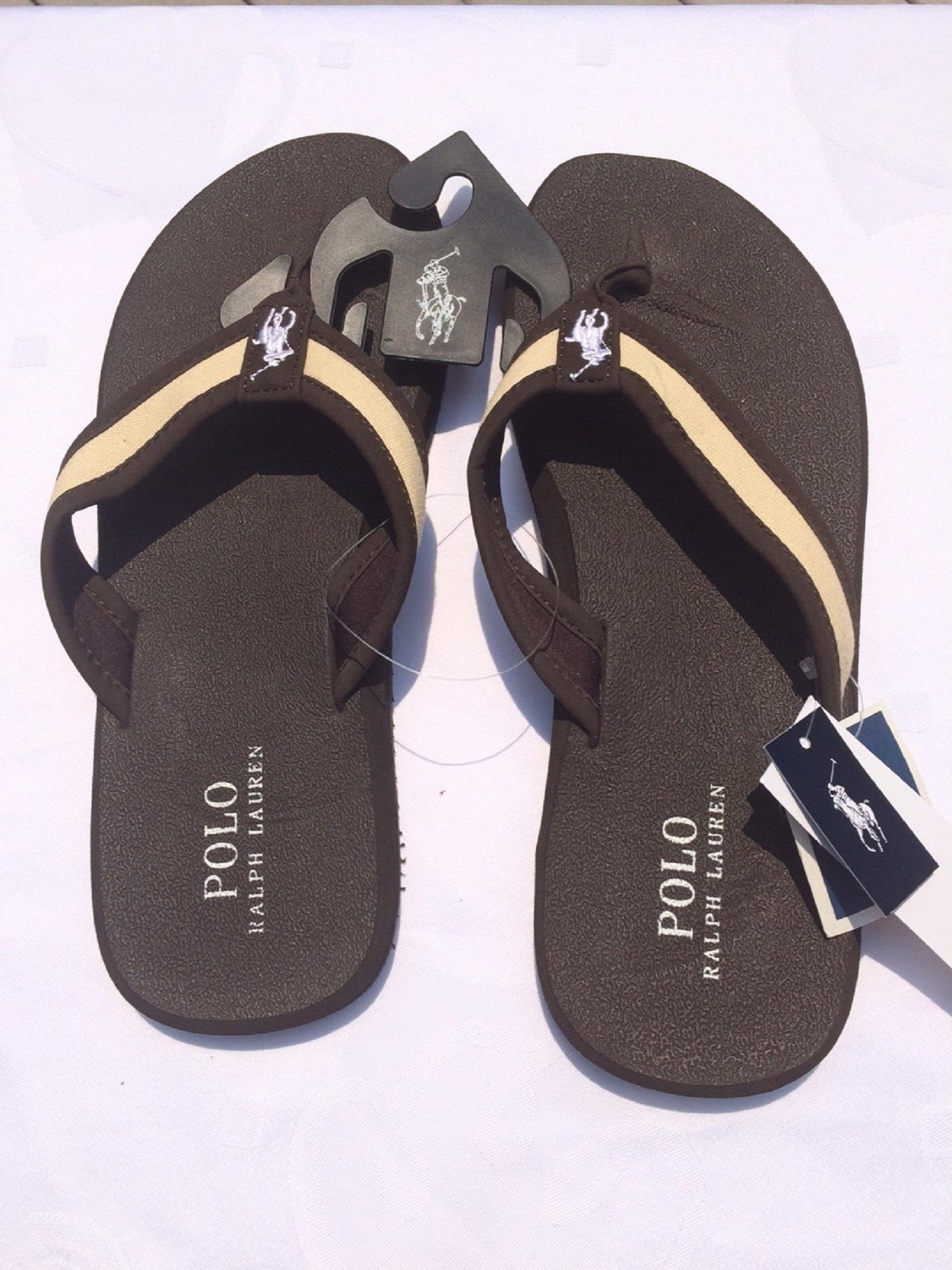 Flip Flop Sandals Dark Brown Khaki