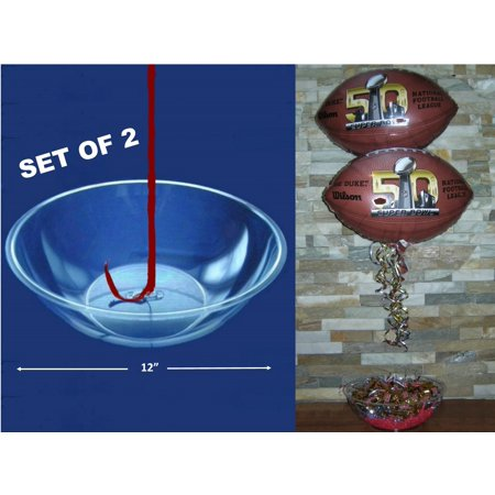 Party City Balloon Centerpieces (Balloon Weight Bowl for Centerpieces - Party Decoration, 2 Pack 12