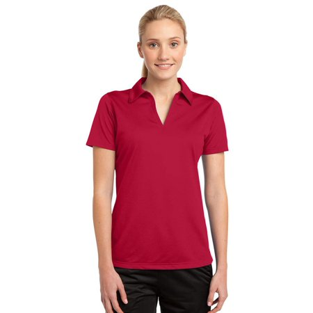 - Sport-Tek Women's Active Johnny Collar Textured Polo Shirt