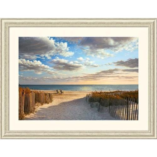 Amanti Art Daniel Pollera 'Sunset Beach' 44 x 34-inch Framed Art Print