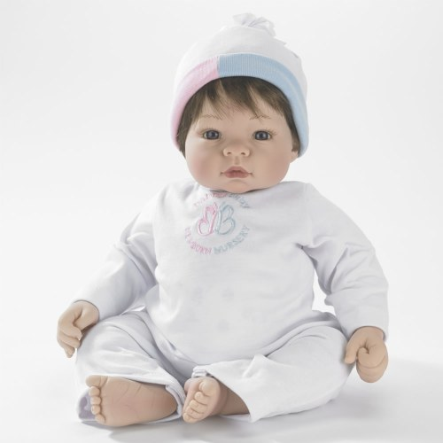 "19"" Munchkin Babblebaby Doll with Sounds - Brown Hair"