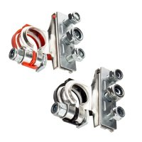 2Pcs Commonly Used Positive & Negative Battery Terminals Connectors Clamps Car Van Motorhome 12V 3Way