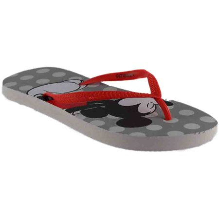 Disney Womens Mickey Minnie Flip Flop  Casual Sandals Shoes