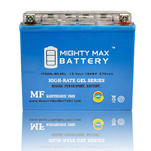 YTX20L-BS GEL Battery for Kawasaki JT1500E Ultra 260X Jet Ski 09-10 by Mighty Max Battery