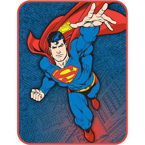 "Superman Flying Punch 46"" x 60"" Plush Throw"