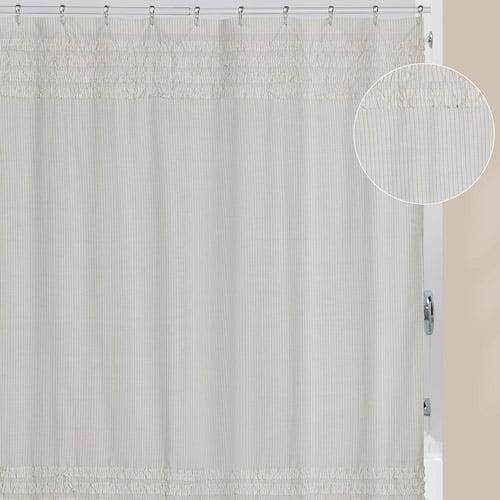 Creative Bath Can Cotton Polyester Blend Shower Curtain