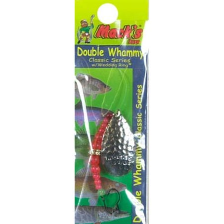 Mack's Lure Double Whammy Classic Lure, Hammered