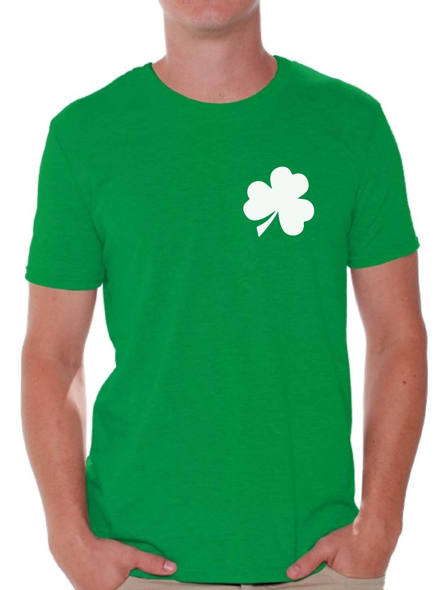 dbc4a86a8 Awkward Styles Shamrock Pocket Size Shirt Shamrock Green T-Shirt for Men  Men's St. Patrick's Day Shirts Lucky Charm Gifts Proud Irish American Men  Green ...