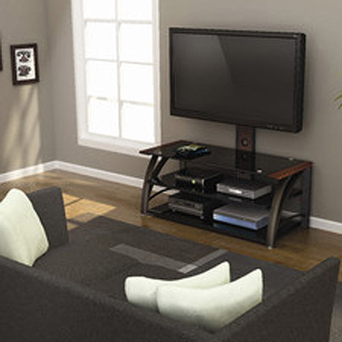 "Z-Line Designs Montego 3-in-1 TV Stand With Mount, for TVs up to 70"", Bronze"