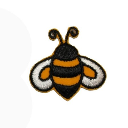 Bee Applique - ID 1619B Bumblebee Emblem Patch Cute Honey Bee Bug Embroidered Iron On Applique