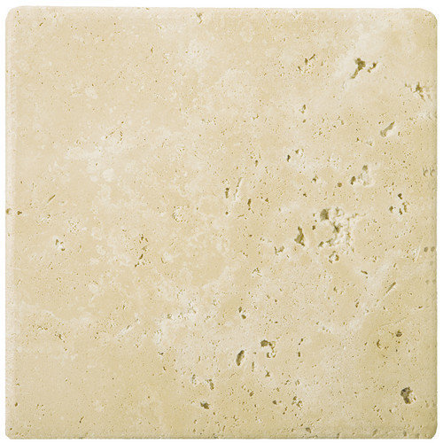Emser Tile Natural Stone 24'' x 24'' Tumbled Travertine Tile in Ancient Beige