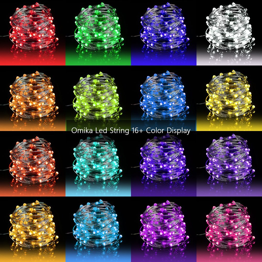 Led Fairy Lights 33ft 100 Leds Battery Operated String