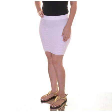 Guess High-Waist Snakeskin-Pattern Bodycon Mini Skirt Size S ()