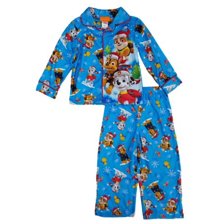 Nickelodeon - Paw Patrol Christmas Holiday Toddler Boys Blue Flannel Sleepwear  Pajama Set - Walmart.com 0ad7727e2