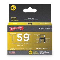 5/16 x 1/4-Inch Black Insulated Staple, 300 Count
