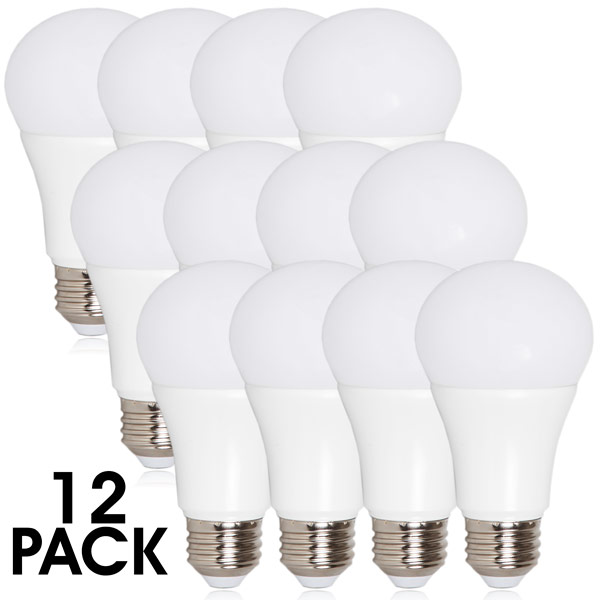 Maxxima LED A19 - 800 Lumens 60 Watt Equivalent Warm White (2700K) Light Bulb, 10 Watts (Pack of 12)