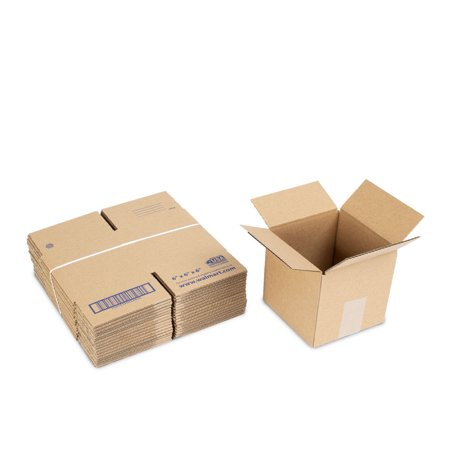 Small Cube Recycled Shipping Boxes 6L x 6W x 6H (18 Count)