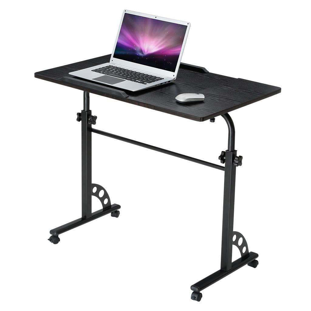 LANGRIA Extra-Large Tilting Wooden Rolling Laptop Desk