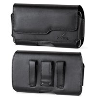 For Samsung Galaxy S20 5G, Galaxy Note 10, Galaxy S10, Galaxy S10e, Galaxy S9, Galaxy S8, Premium Leather AGOZ Pouch Case Holster Cover with Belt Clip, Loops and Magnetic Closure (FOR BARE PHONE)