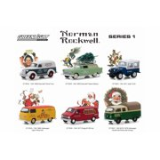 Greenlight Norman Rockwell Delivery Vehicles Series 1 Diecast Car Set - Box of 6 assorted 1/64 Scale Diecast Model Cars