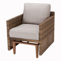 Better Homes & Gardens Davenport Patio Wicker Glider Chair with Beige Cushions