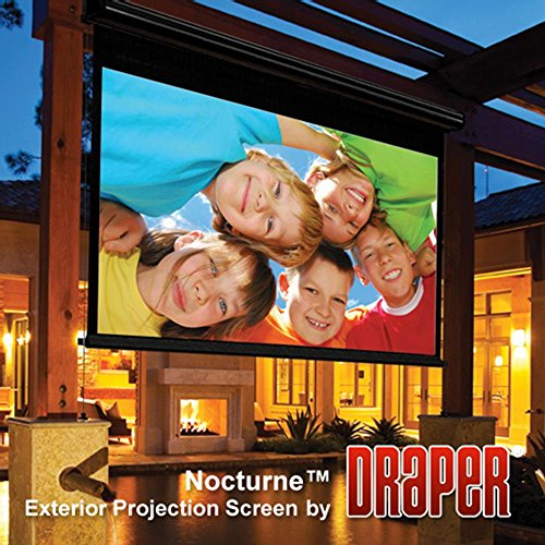 Outdoor Projector Screen Draper 138022 Nocturne Series E 102 diag. (54x87)-Widescreen [16:10]-Contrast Grey... by Draper