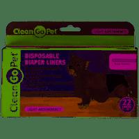 Clean Go Pet Disposible Lite Dog Diaper Liner, 22 Count