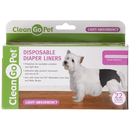 Clean Go Pet Disposible Lite Dog Diaper Liner, 22 Count