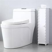 Floor Cabinet Multifunctional Free Standing Bathroom Storage Cabinet with Toilet Paper Holder for Living Room Bedroom Kitchen Hallway Bathroom