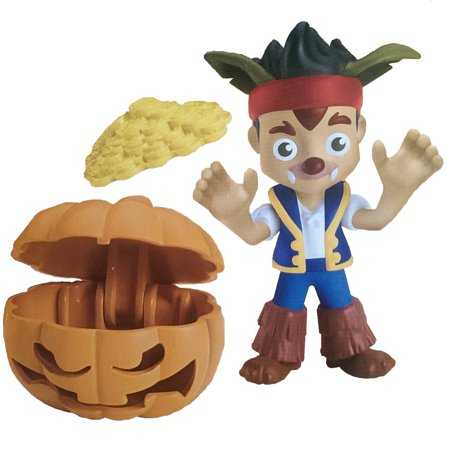 Jake and the Neverland Pirates Halloween Jake Werewolf with Pumpkin Treasure Chest and Gold Doubloon Coins - Jake Neverland Pirates Halloween