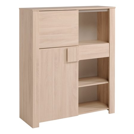 Warren Oak Dishes Cabinet, Sesame Oak ()