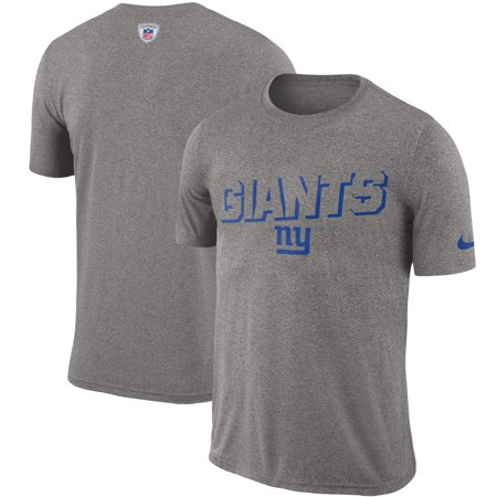 New York Giants Nike Sideline Legend Sweat Reveal Lift Performance T-Shirt - Heathered Gray Nike Workout Shirts