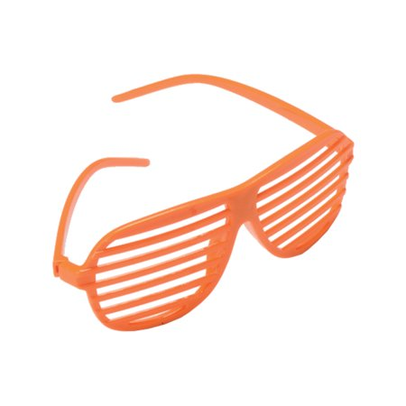 Orange 80's Shutter Shade Toy Novelty Sunglasses Party Favors Costume Accessory