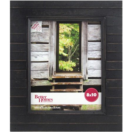 - Better Homes and Gardens Timbermound 8x10 Distressed Black Picture Frame