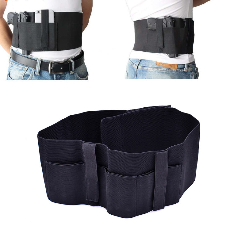Versatile Belly Band Holster Concealed Carry with Magazine Pocket Pouch & 2 Elastic Straps for Women Men Fits Glock,... by