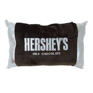 Hershey Bar Embroidered Pillow With Foil Ends